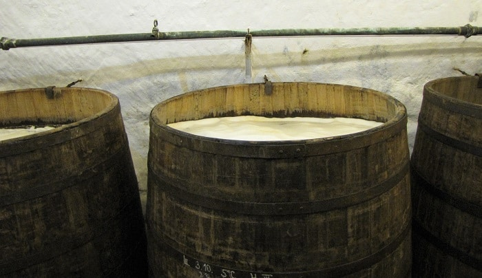 Visiting Prague - Beer Fermenting in Barrels
