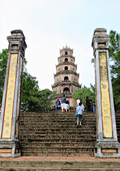 Vietnam - A Quick Tour in Three Stops - The steps leading up to the Thien Mu Pagoda. Hue, Vietnam