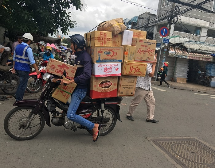 Vietnam - Delivery on a Motorbike