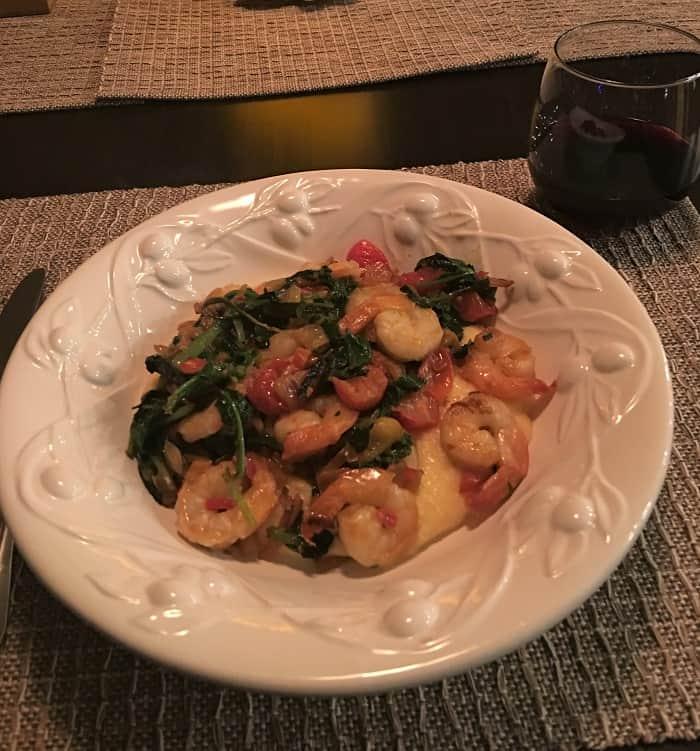 Travel Eat Cook Shrimp & Polenta