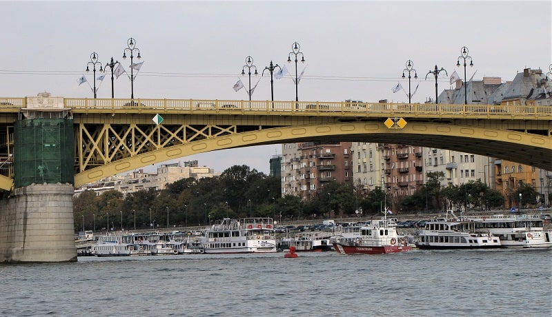 Budapest - Bridge and Boats on the Danube
