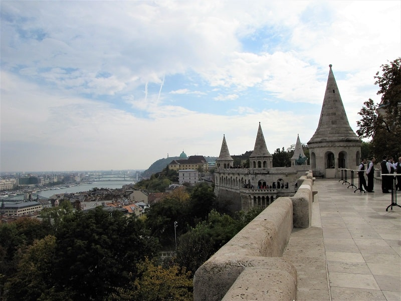 Buda Castle Ramparts Overlooking the Danube