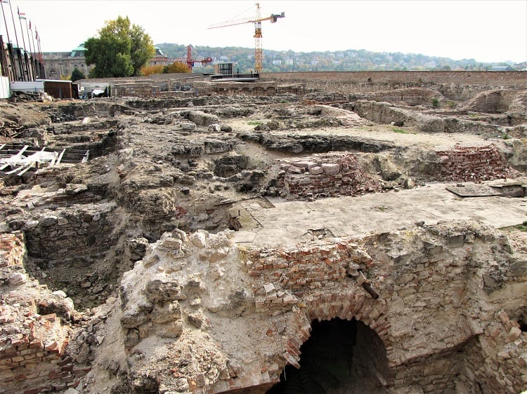 "Archaeological reconstruction under way on the ""old buda castle"" - Budapest Tour"