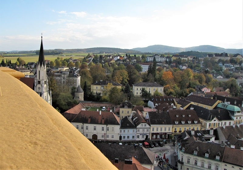 A view of Melk from the walls of the Abbey