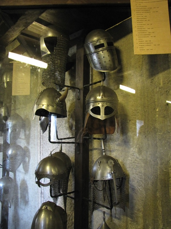 Prague Castle Armory - Helmets
