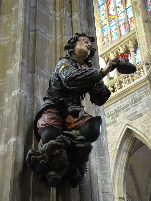 Prague Castle - Peasant Sculpture