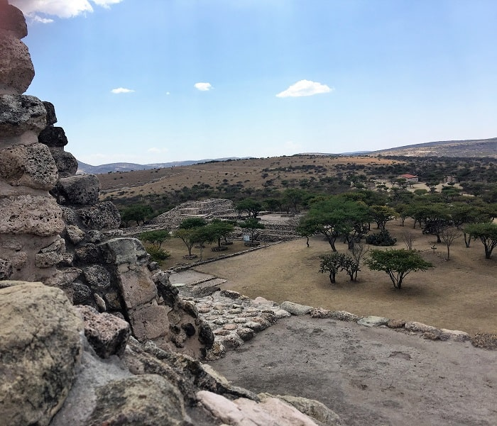 Views From the top of the Main Pyramid - Canada de la Virgen - San MIguel de Allende