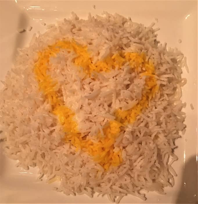 Basmati Rice with Heart of Saffron