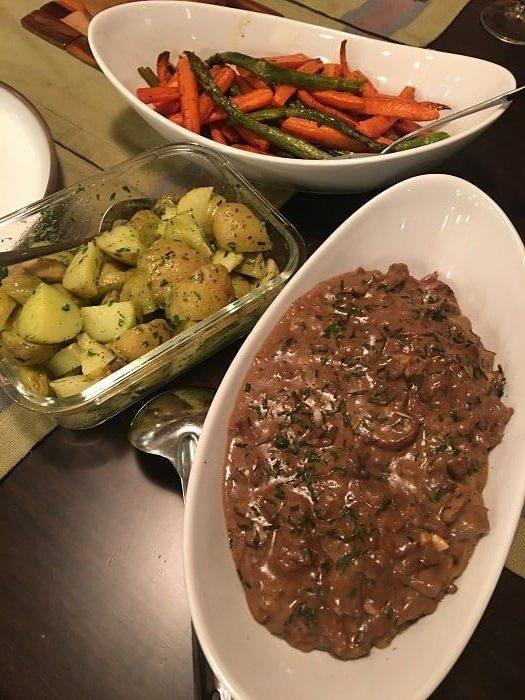 My Beef Stroganoff Dinner