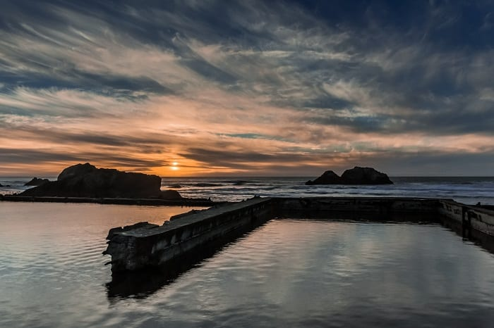 Sunset Over Sutro Baths San Francisco