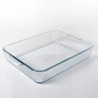 "Cravings by Chrissy Teigen 15""x9"" Glass Rectangular Baker"