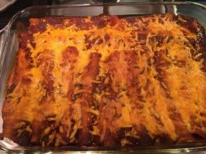 Beef Enchiladas in Red Sauce