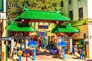 Dragon Gate - the entrance to San Francisco's China Town.