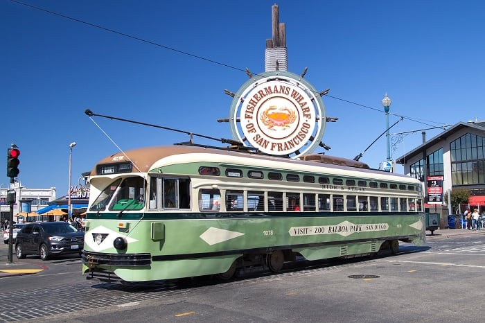 Heritage Streetcar at Fisherman's Wharf