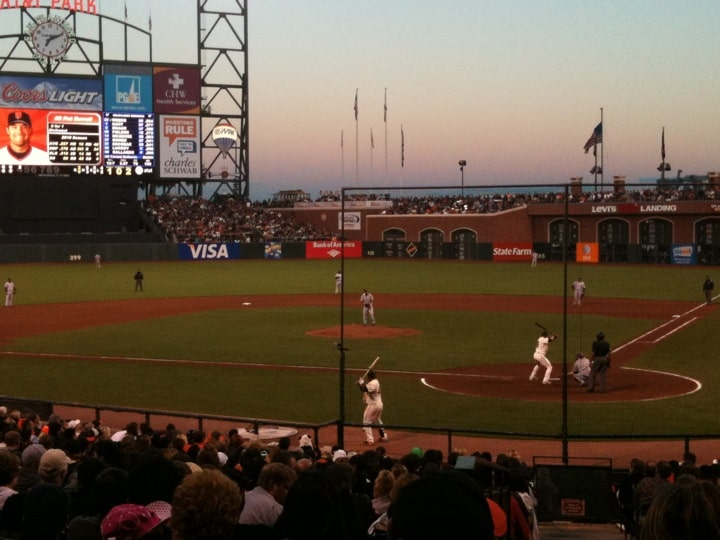 Watching the Giants Play Baseball at Oracle park