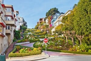 "Lombard Street San Francisco - ""The Crookedest Street in the World!"""