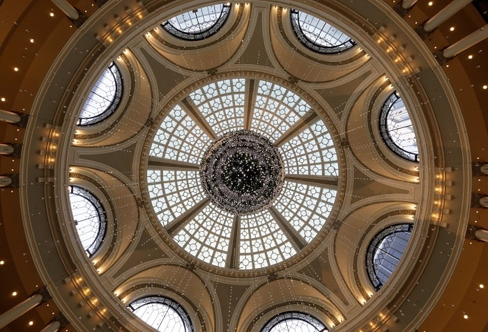 Things to do in San Francisco - Skylit dome shining over Westfield Center
