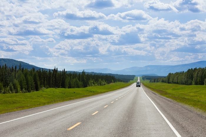Southbound on the Alaska Highway