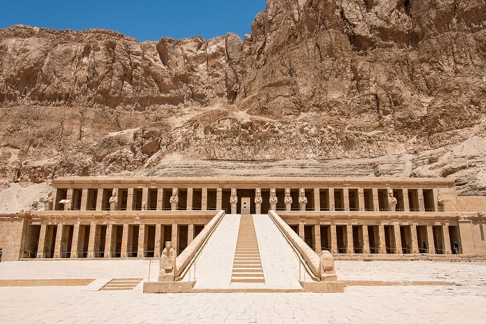 The antique temple of female pharao Hatchepsut near Luxor in Egypt