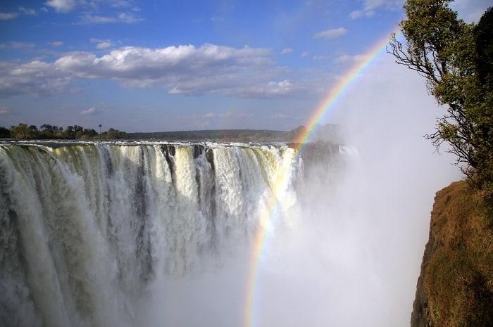 View of the Main Falls of Victoria Falls, Zimbabwe