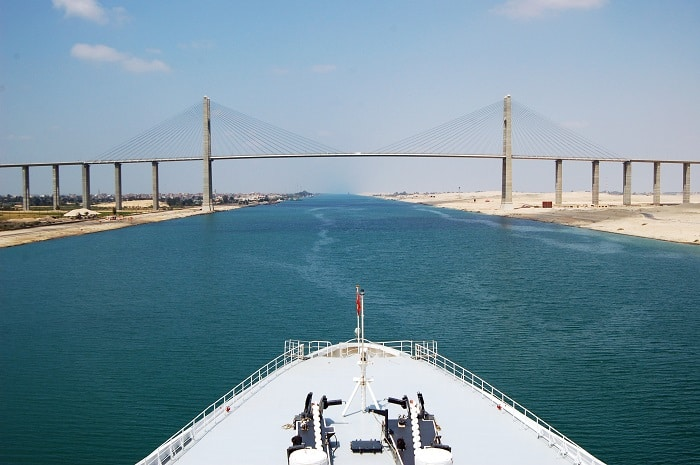 Traverse the Suez Canal on Your Once in a Lifetime Cruise
