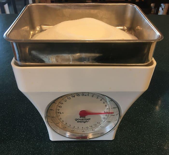 Sugar Being Weighed
