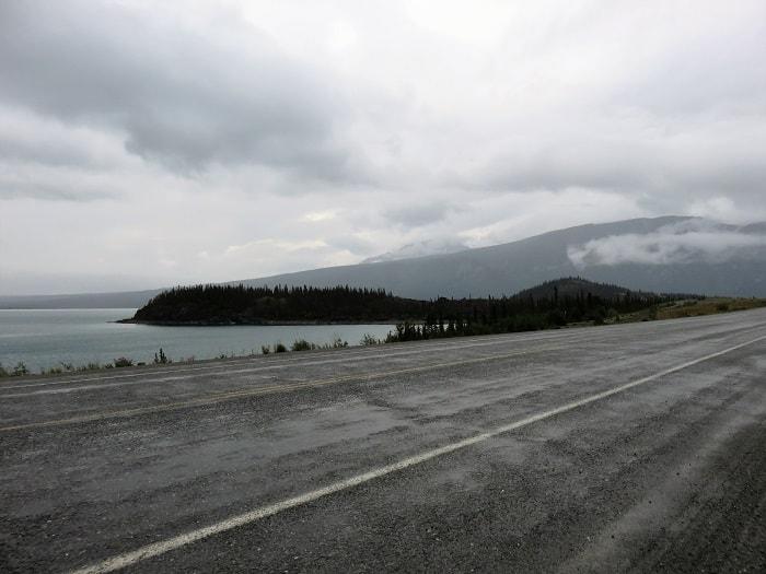 Alaska Highway Along Pine Lake
