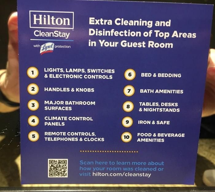 Room Signage Explaining Cleaning