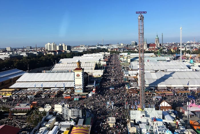 Arial View of The Tents at Oktoberfest