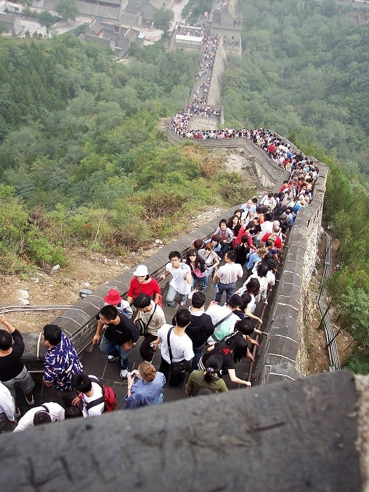People Walking The Great Wall