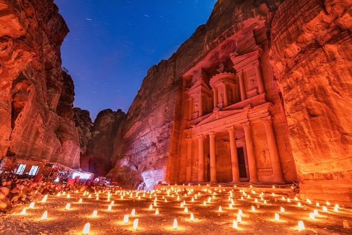 Petra Treasury Night