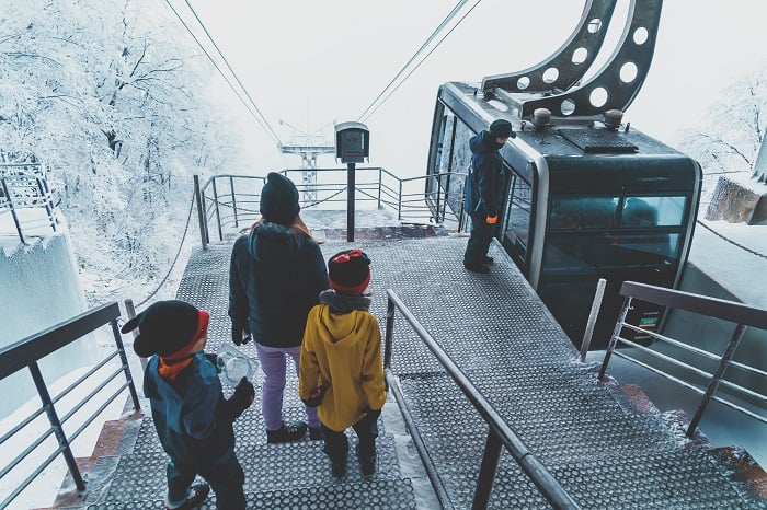 Snow Monsters Cable Car