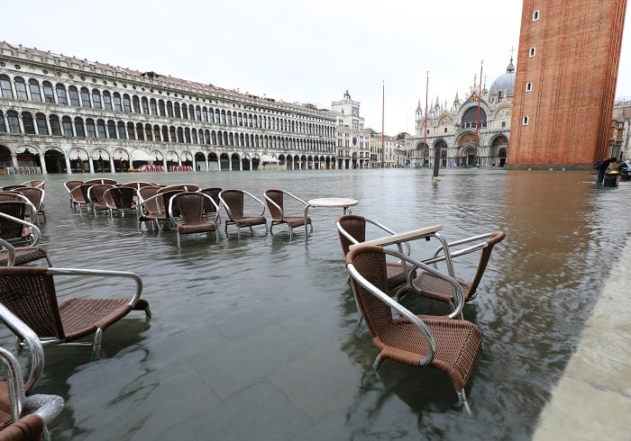 Venice Italy - Flooded St. Marks Square