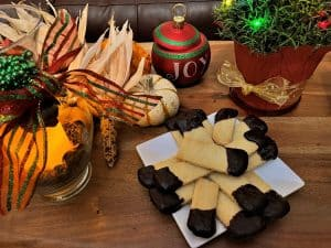 Chocolate Dipped Scottish Shortbread Cookies