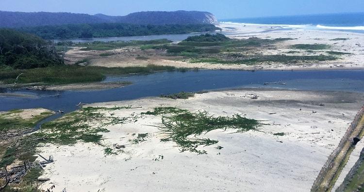 Copalita River Meets Pacific Ocean