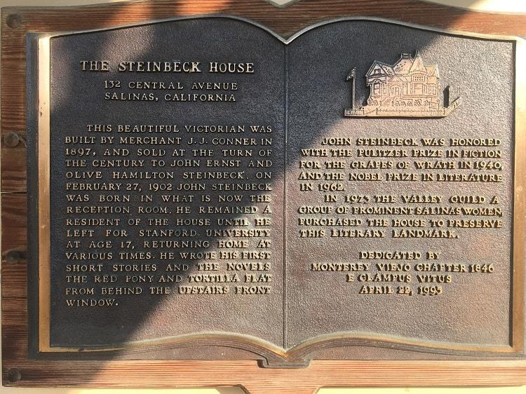 Steinbeck House Plaque