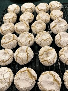 Waiting for Amaretti Cookies to Cool
