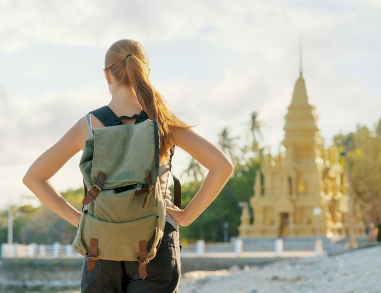 Solo Travel - Woman in Asia