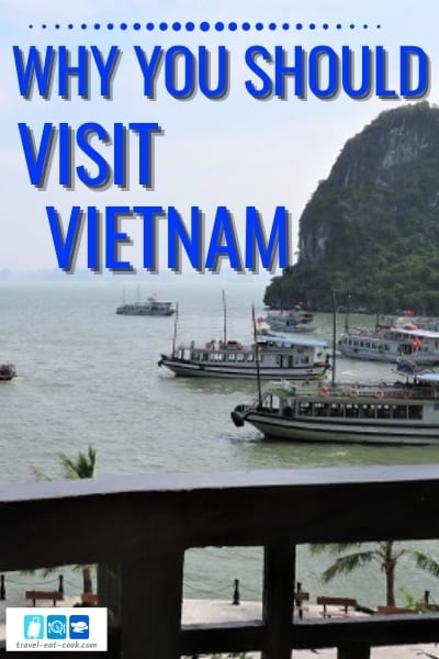 Why You Should Visit Vietnam - looking out over the Junk Boats at Halong Bay