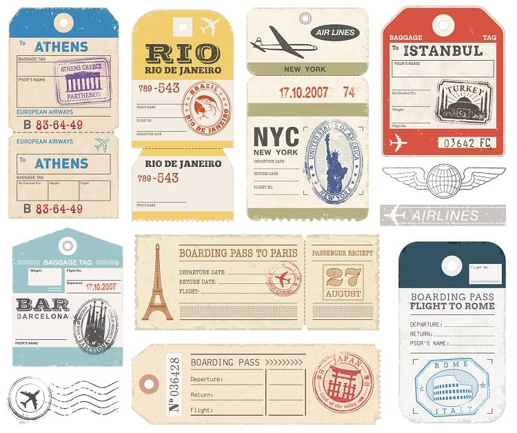 How to Organize Travel Plans - Retro Luggage Tags