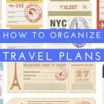 Travel Plans to Organize