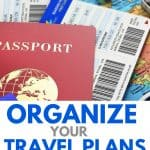 How To Organize Travel Plans