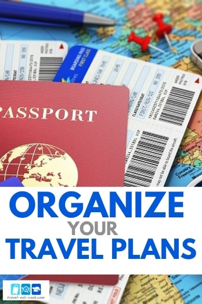 Organize Your Travel Plans