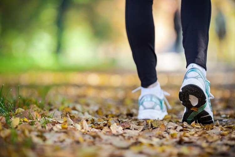 Walking is a great way to get in shape for travel