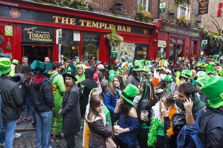 Celebrate St. Patrick's Day In Ireland - Temple Bar, Dublin