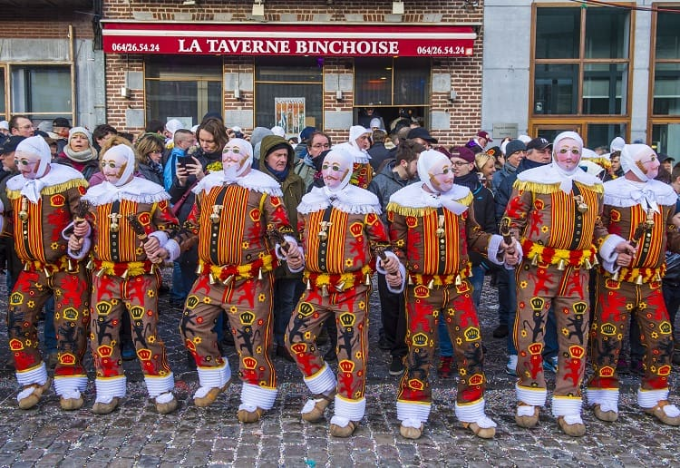 Gilles Dressed for Carnival in Binche Belgium