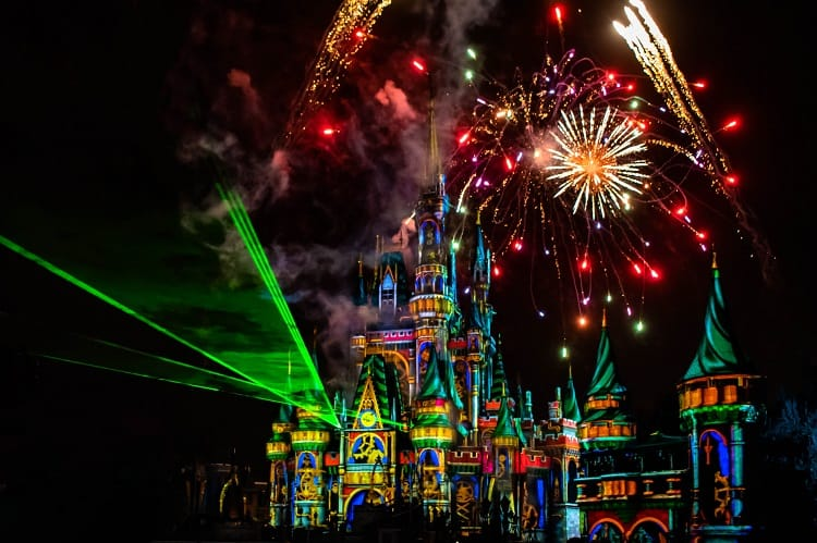 Cinderella's Castle and Fireworks at Disney World in Orlando Florida