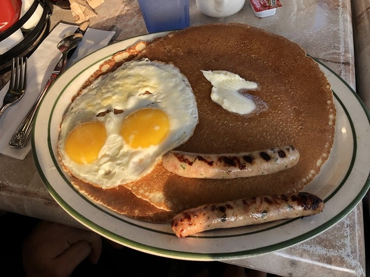 Pancakes at Fred's in Sausalito
