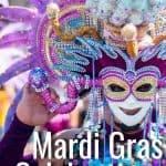 Reveler at Mardi Gras