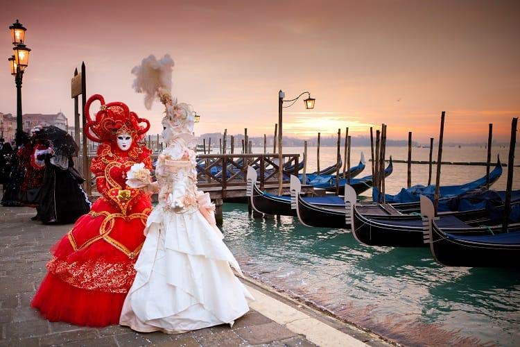 Mardi Gras Masquerade in Venice Italy